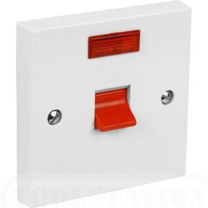 Powermaster Cooker Switch - Square - Neon - 45 Amp