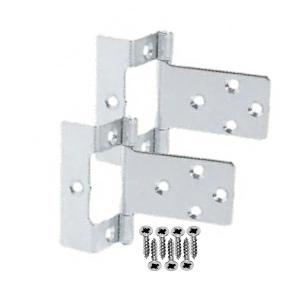 Door hinges, Single Cranked (16mm) Flush, Zinc Plated 50mm
