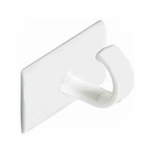 PROSH135 - 10 x Self Adhesive Cup Hooks White