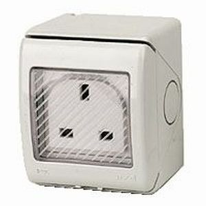 Gewiss Weather Resistant Socket 1 Gang - IP55