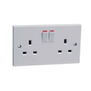 Powermaster Switched Socket - Double - 13 Amp
