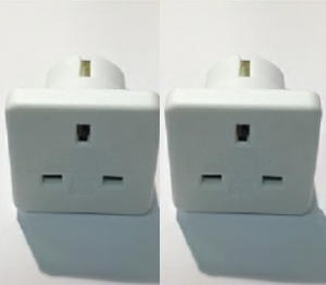 EA13-2 - European Travel Adaptor BS8546 Twin Pack