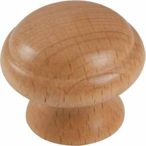 Wooden Ringed Knob Beech 40mm - Pack 1
