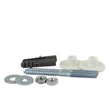 Light Duty Basin Fixing Kit for light duty fixing of washbasins to solid walls.