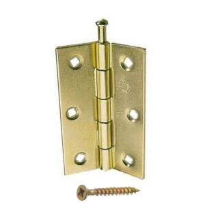 Steel Butt Hinges Loose Pin Brass Chrome & Zinc Plated