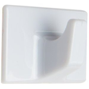 kb1992 - Self Adhesive Hooks White Rectangular - Bag 10pcs