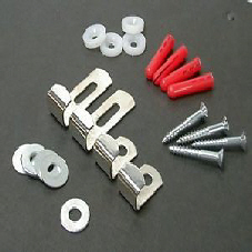 Mirror Fixing Kit 4 part, Chrome Plated