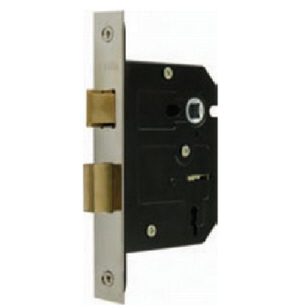 ML365NP - 63mm Mortice Lock 3 Lever Nickel Plated