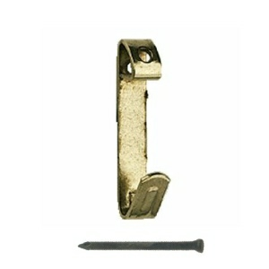 Picture Hooks Brass Plated 3 Sizes & Pins