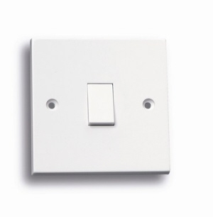 Powermaster Light Switch White - 1 Gang - 1 Way - 10amp