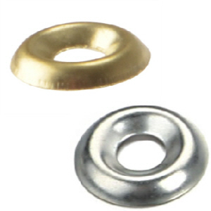 Screw Cup Washers Decorative and Supportive washers Brass and Nickel No.6 - 8 - 10