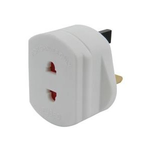 2 pin Fused Shaver Adaptor Plug - White