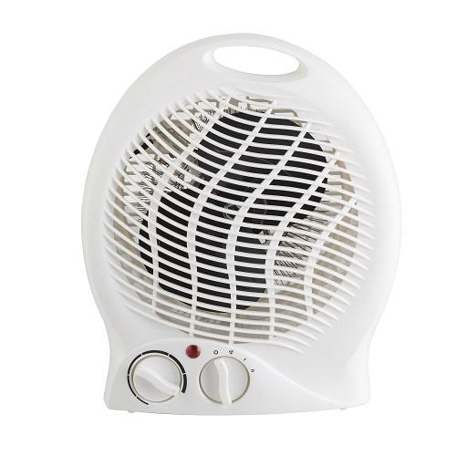 Upright Fan Heater 2000w White - 2 Heat Settings