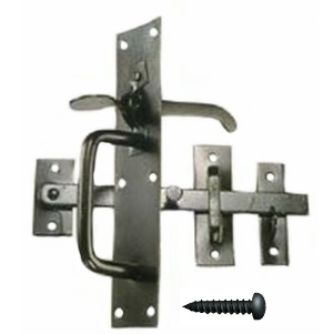 Suffolk Latch Black Powder Coated with screws