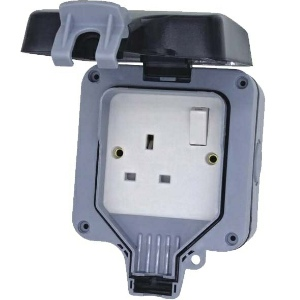 Deligo Weatherpoof Socket 1 Gang - IP66