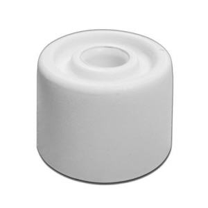 PRODS293 - Large White Doorstops 33 x 22mm - fixings included - Bag 3pcs